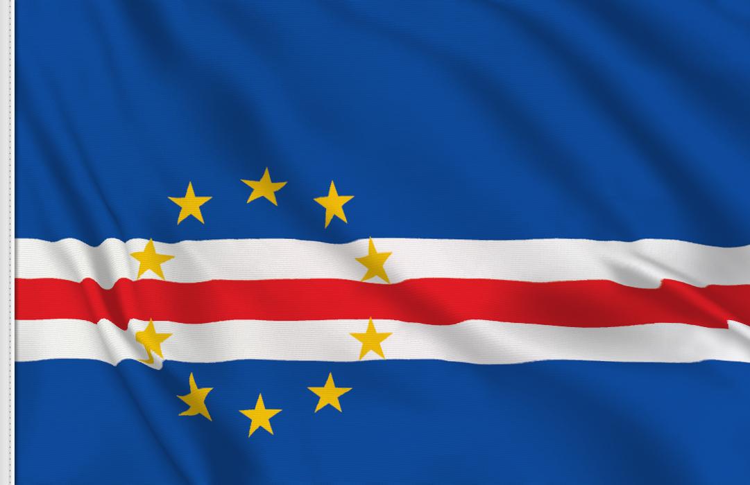 bandera adhesiva de Cabo Verde