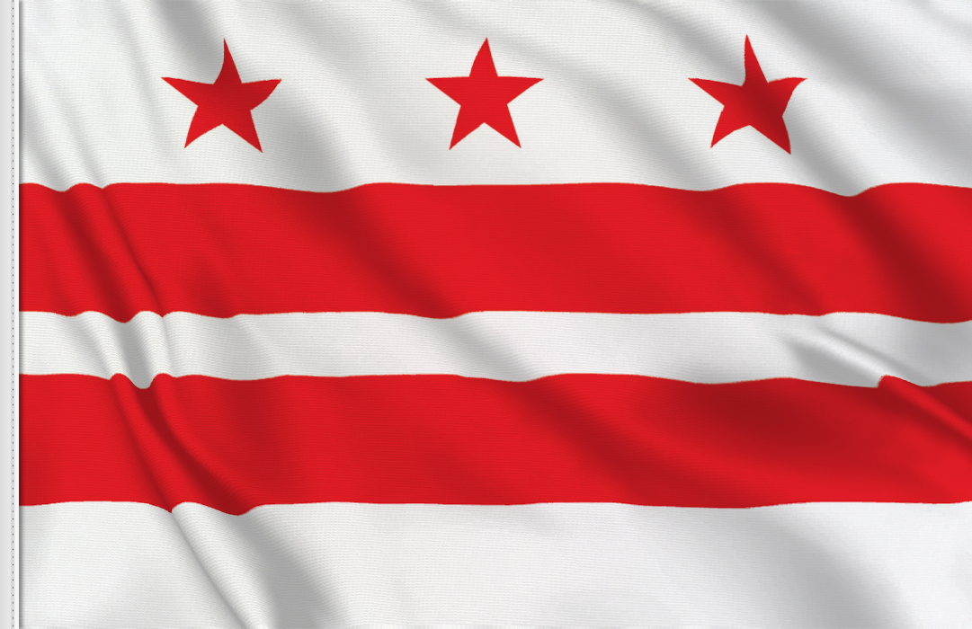 Flag sticker of Discrict-of-Columbia