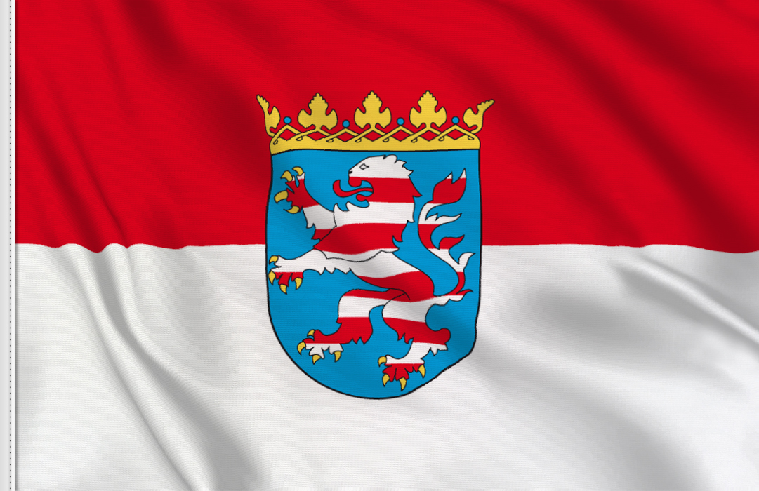 Flag sticker of Hesse-Hessen