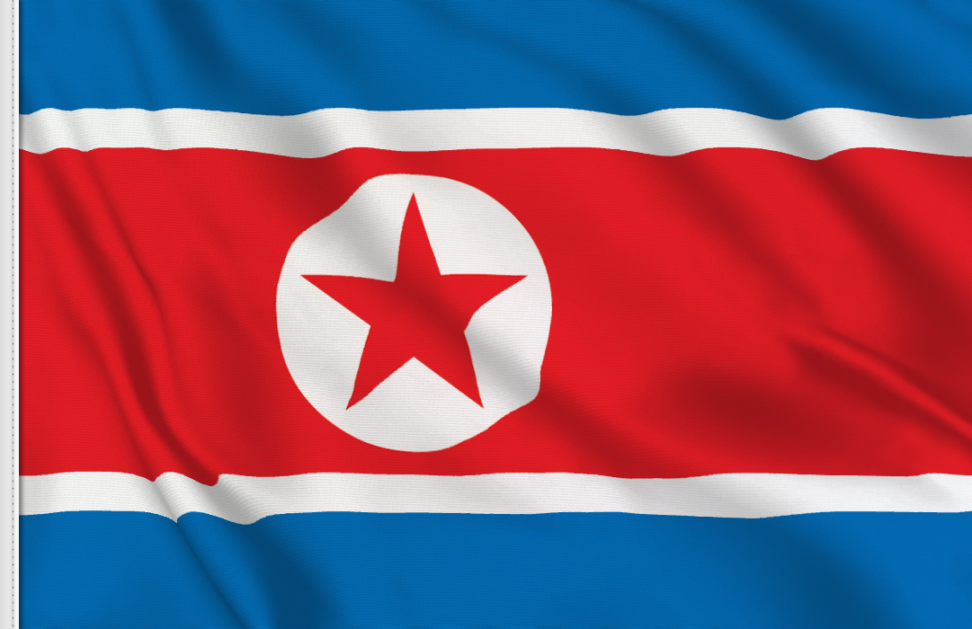 flag sticker of North Korea