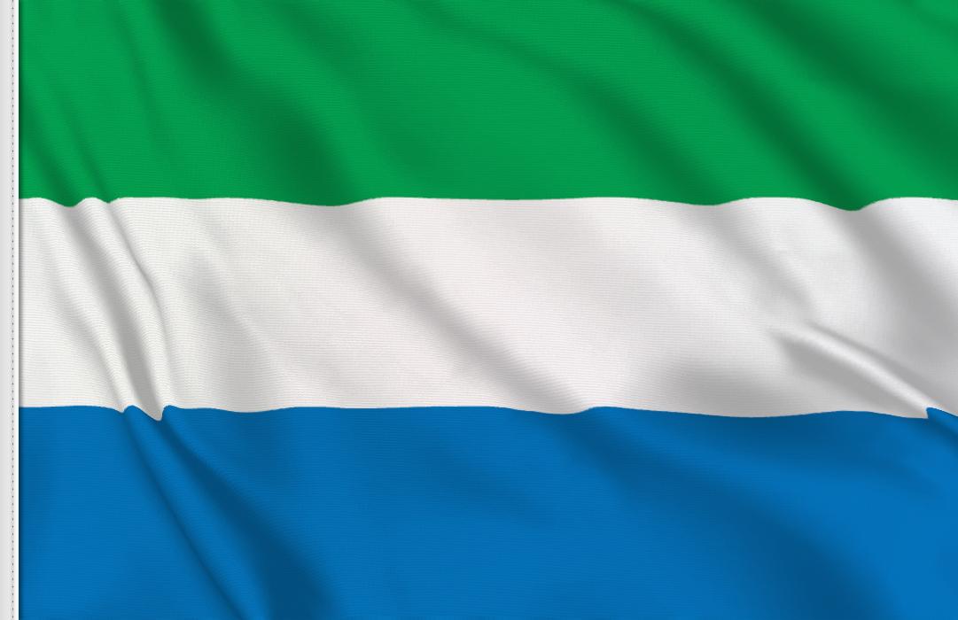 flag sticker of Sierra Leone