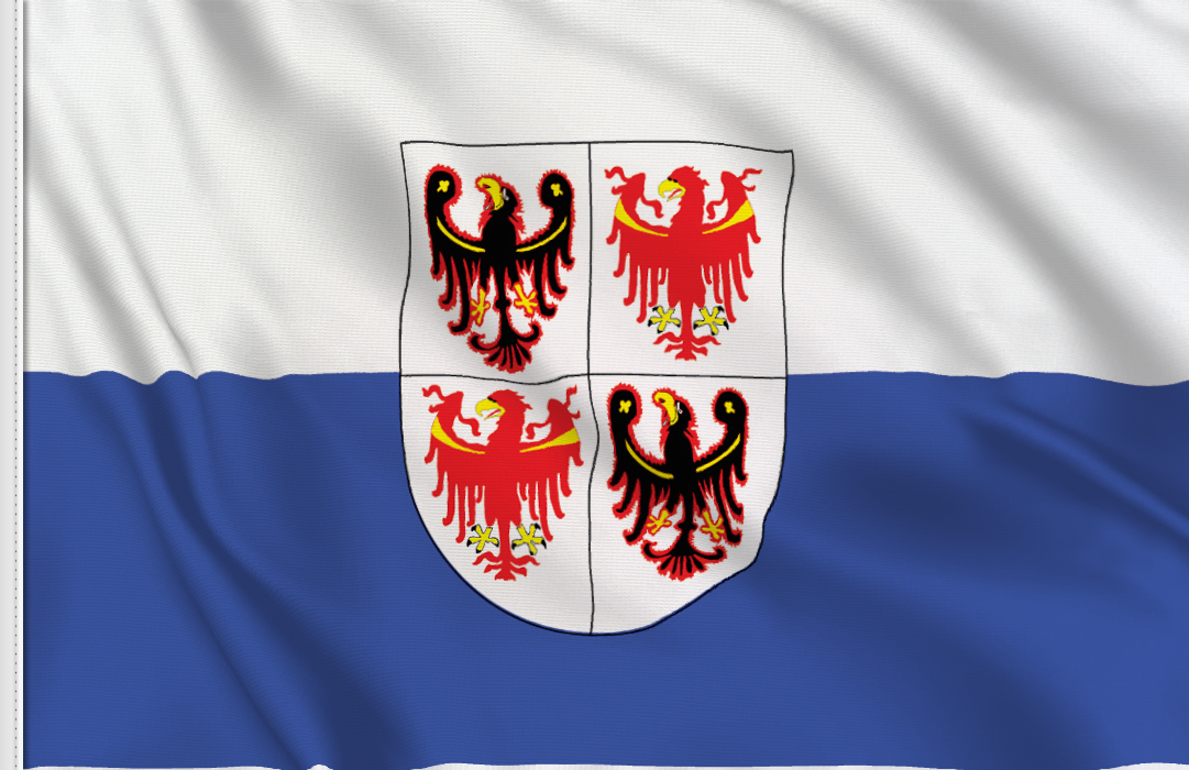 flag sticker of Trentino-Alto-Adige