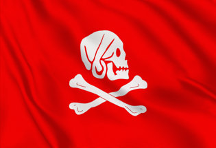 Bandiera Henry Avery rossa