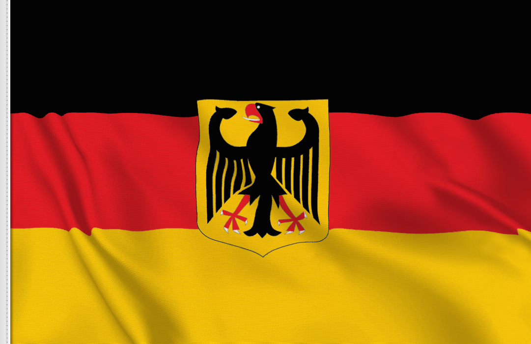 flag sticker of Federal-Republic-Germany