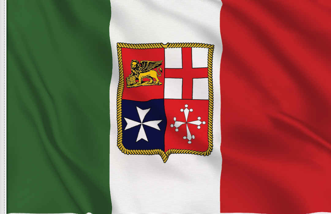 flag sticker of Italy Navy