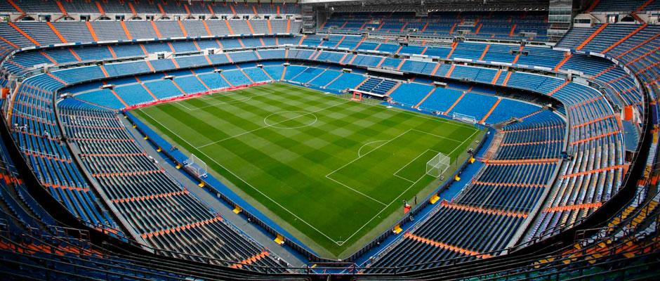 lo stadio Santiago Bernabéu del Real Madrid