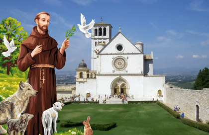 Bandiera San Francesco di Assisi