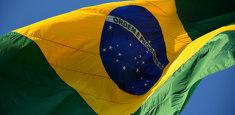 Bandiera del Brasile, dettaglio di bandiera grande formato