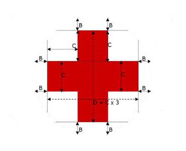 dettagli bandiera Croce Rossa