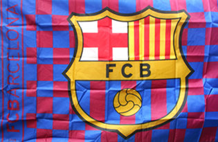 Bandiera Futbol Club Barcelona Ufficiale