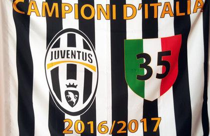 Bandiera Juventus Campioni d'Italia 2017