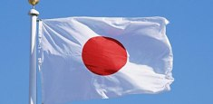 Bandiera Giapponese al vento