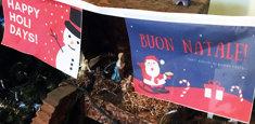 Bandiere di Natale filare
