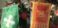 Bandiera Lombardia e Serenissima per albero di Natale