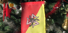 Bandiera siciliana per albero di Natale