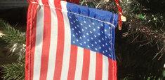 Bandiera americana per Albero di Natale