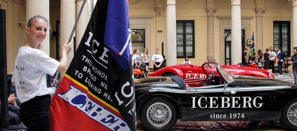 Bandiera Personalizzata Bifacciale Iceberg - Milano Fashion Week