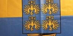 Dettaglio stampa sublimatica bandiera Bassa Austria