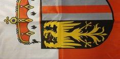 Dettaglio stampa sublimatica bandiera Alta Austria