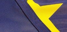 Doppia cucitura perimetrale bandiera Unione Europea