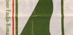 Dettaglio stampa sublimatica bandiera Emilia-Romagna