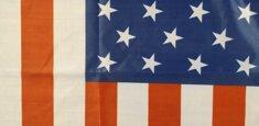 Dettaglio stampa sublimatica bandiera Stati Uniti d'America - USA