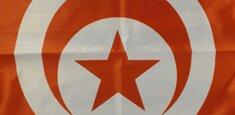 Dettaglio stampa sublimatica bandiera Tunisia