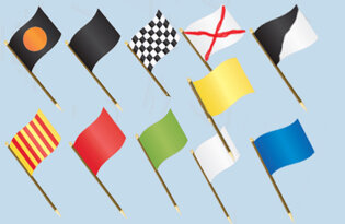Set 11 bandiere Giudice di Gara