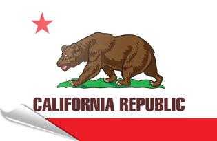 Bandiera adesiva California