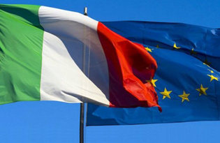 Kit Bandiera Italiana e dell'Unione Europea