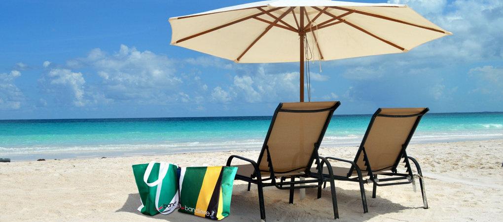 Borse da spiaggia personalizzate, per distinguersi dal resto.