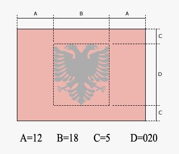 Dettagli per la creazione di una bandiera albanese perfetta