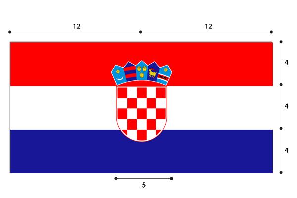 dettagli della bandiera croata corretta