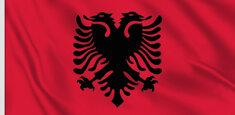 Bandiera dell'Albania realizzata in applicazione