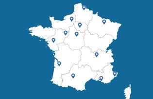 Le bandiere delle città francesi