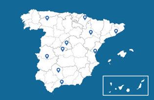 bandiere delle città spagnole