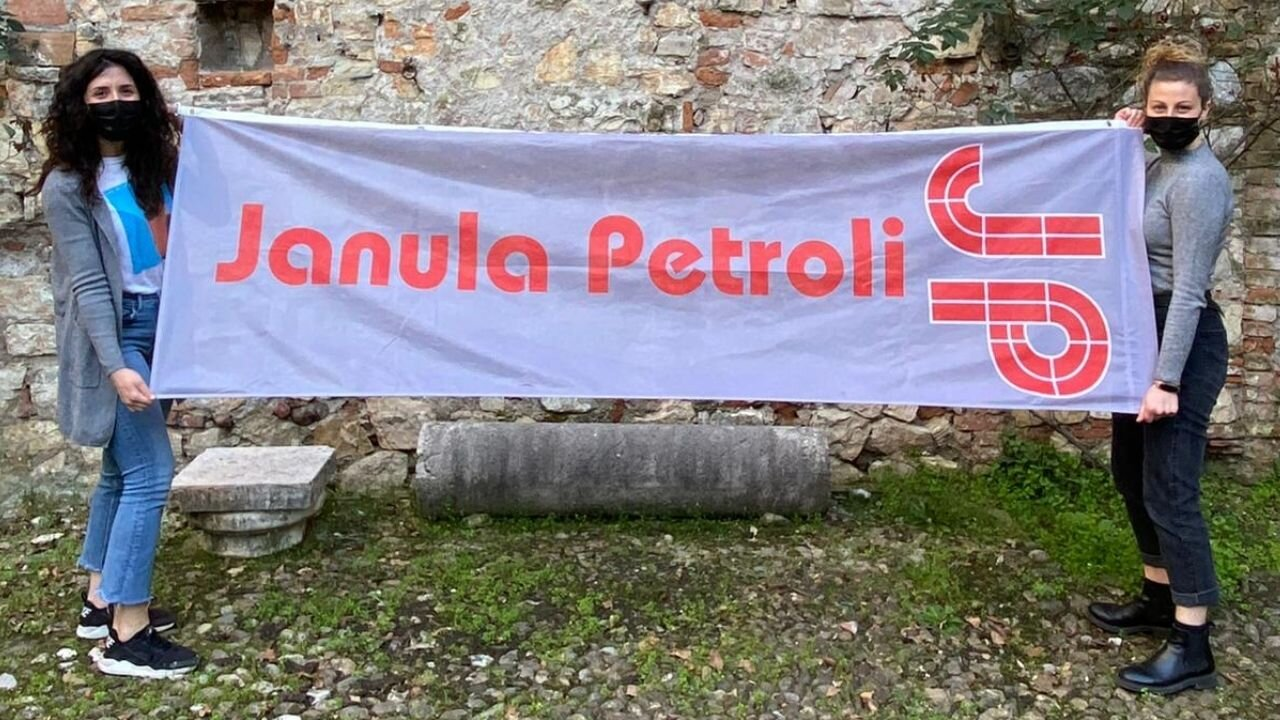 Bandiera personalizzata Janula Petroli